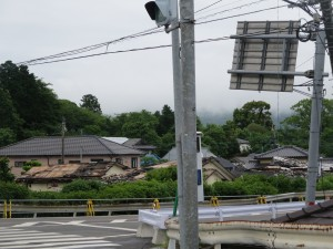 益城町の交差点 (2)